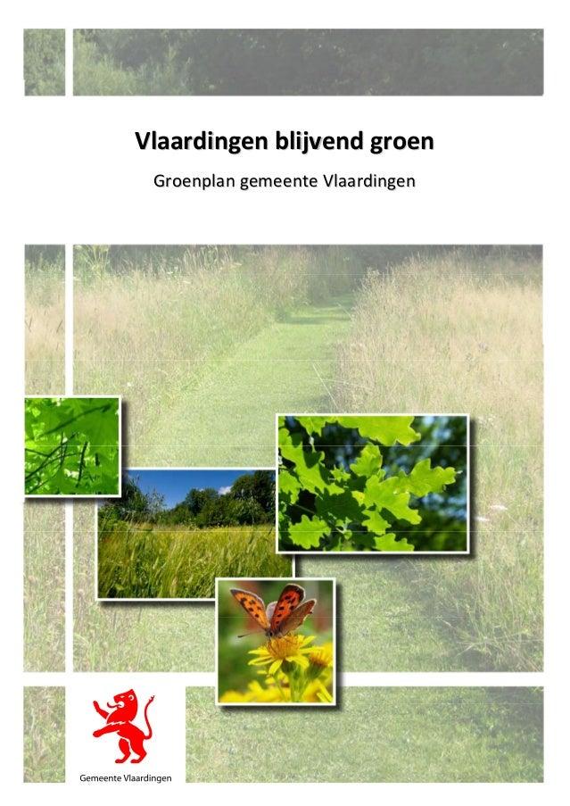Vlaardingen blijvend groen Groenplan gemeente Vlaardingen