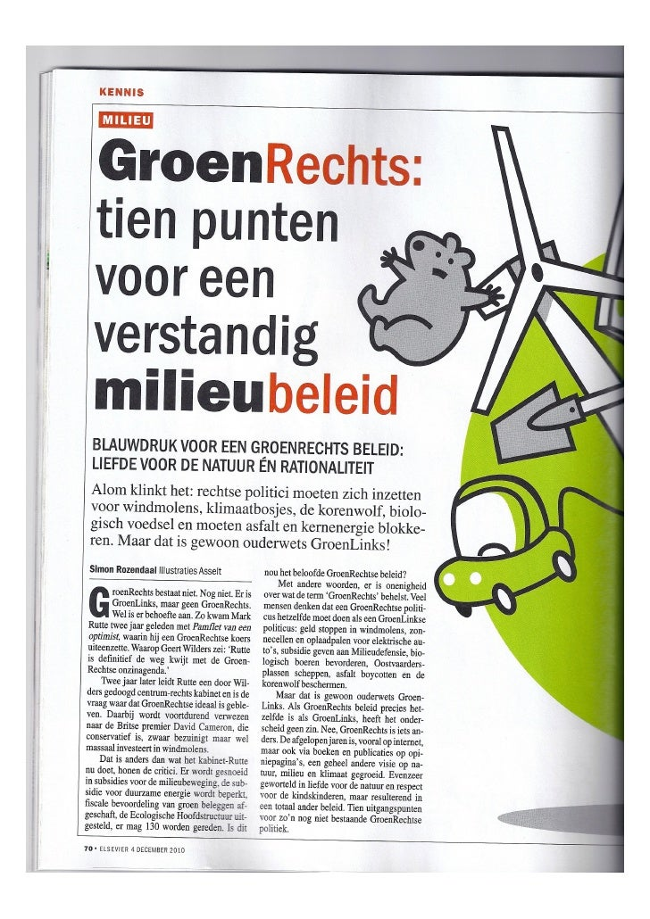 Groen Rechts   Elsevier dec2010