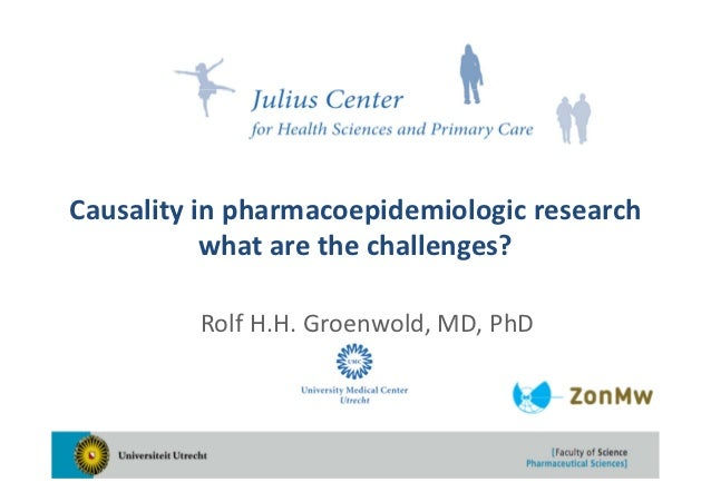 Causality in pharmacoepidemiologic research           what are the challenges?         Rolf H.H. Groenwold, MD, PhD