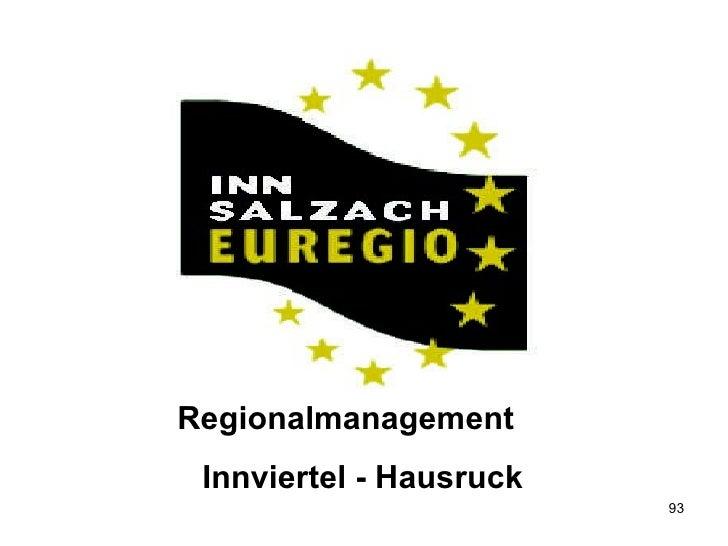 Regionalmanagement  Innviertel - Hausruck