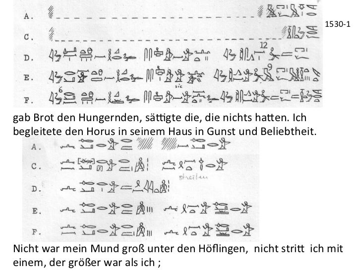 1530-‐1 gab Brot den Hungernden, sä|gte die, die nichts ha_en. Ich begleitete den Horus in ...