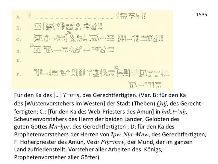 1535 Für den Ka des […] ™-n-n, des Gerechter3gten. (Var. B: für den Ka  des [Wüstenvorsteh...