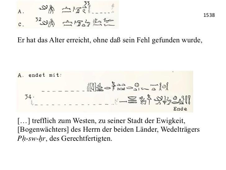 1538 Er hat das Alter erreicht, ohne daß sein Fehl gefunden wurde,  […] trefflich zum Westen, zu seiner Stadt der Ewig...
