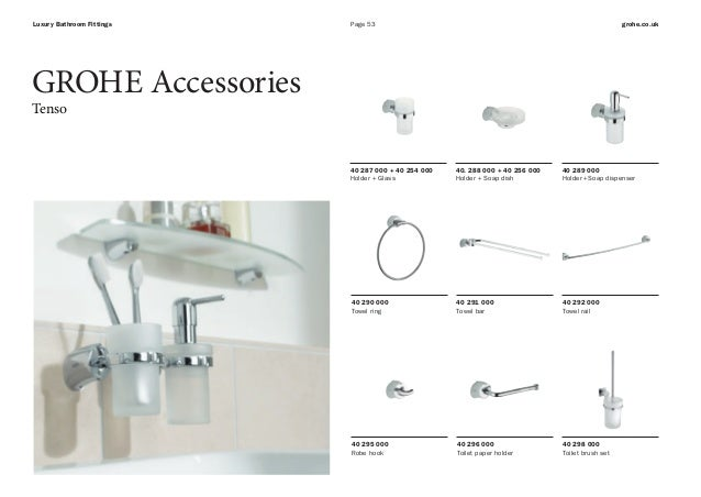 Genial ... 53. Page 53 Grohe.co.ukLuxury Bathroom Fittings GROHE Accessories ...