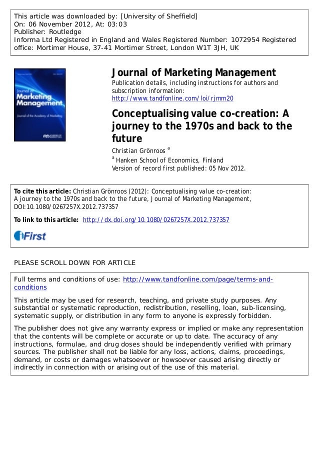 This article was downloaded by: [University of Sheffield] On: 06 November 2012, At: 03:03 Publisher: Routledge Informa Ltd...