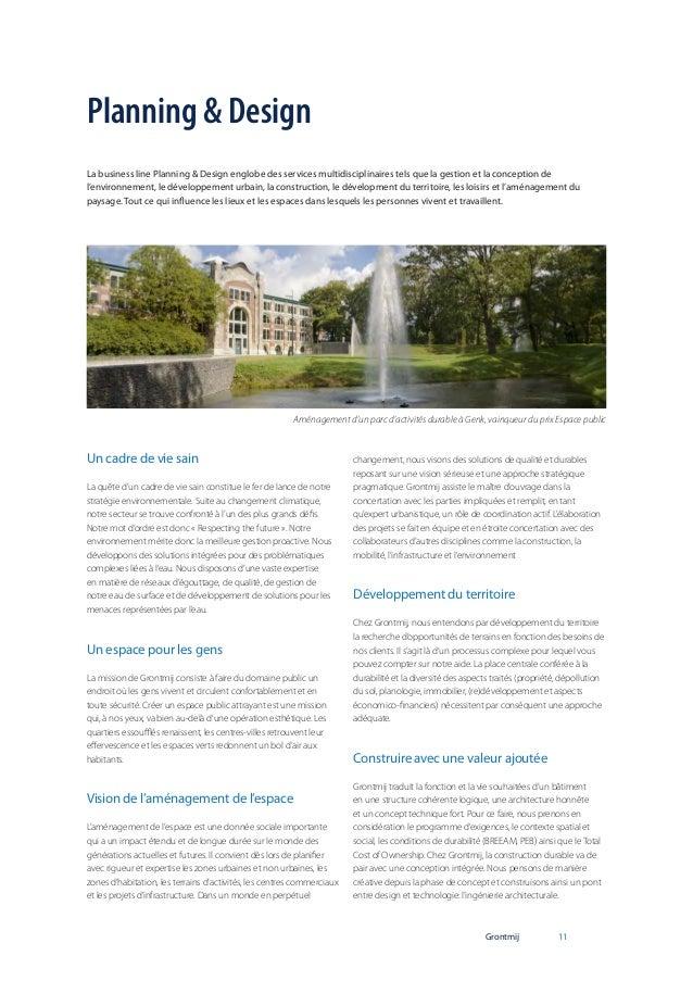 Planning & Design La business line Planning & Design englobe des services multidisciplinaires tels que la gestion et la co...
