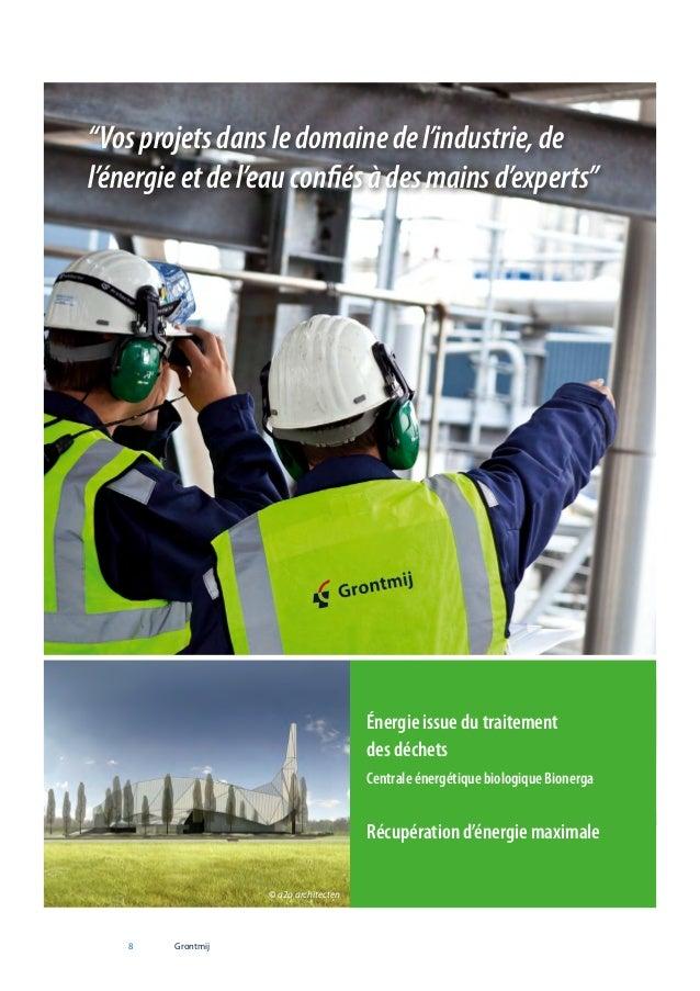 """""""Vos projets dans le domaine de l'industrie, de l'énergie et de l'eau confiés à des mains d'experts""""  Énergie issue du tra..."""