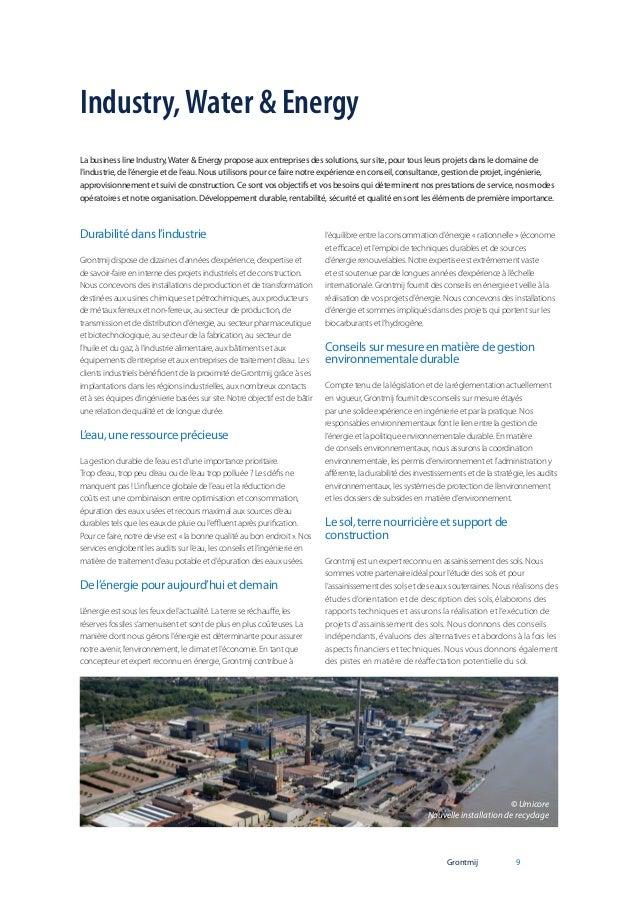 Industry, Water & Energy La business line Industry, Water & Energy propose aux entreprises des solutions, sur site, pour t...