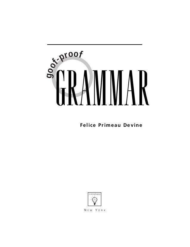 Groof proof grammar