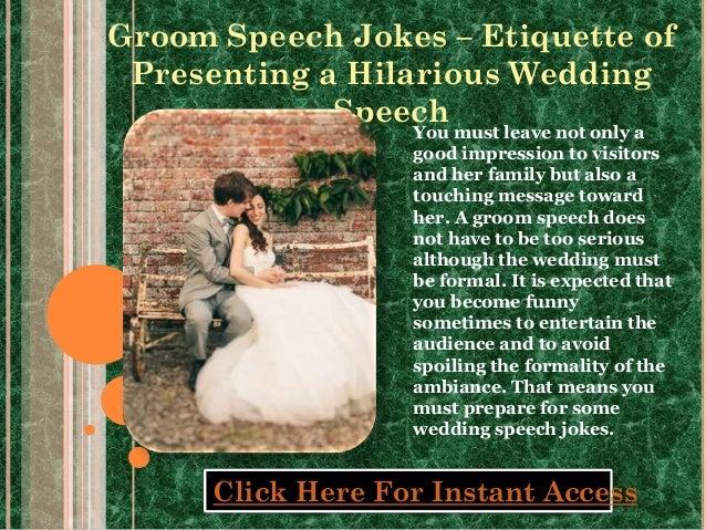 Groom Speech Jokes Etiquette Of Presenting A Hilarious Wedding Spee…
