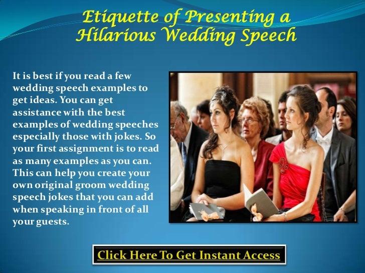Groom Speech Jokes Etiquette Of Presenting A Hilarious Wedding Speech