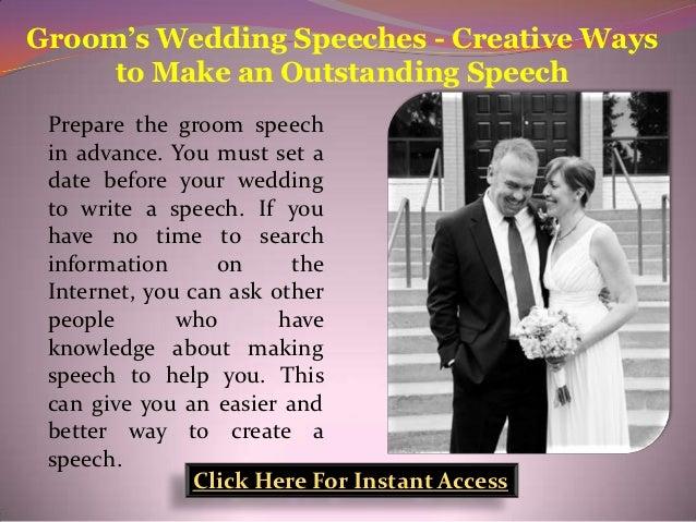 Grooms Speech To Bride Examples: Groom's Wedding Speeches