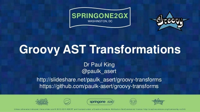 SPRINGONE2GX WASHINGTON, DC Unless otherwise indicated, these slides are © 2013 -2015 ASERT and licensed under a Creative ...