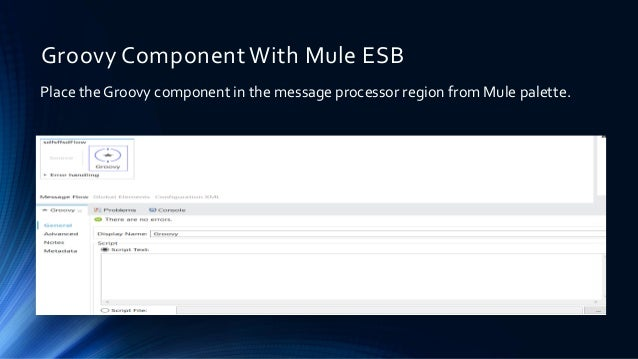 Groovy Component With Mule ESB