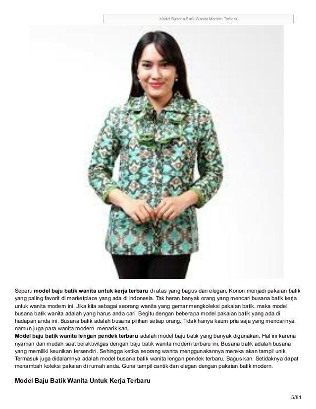 Grosirbatikterkiniblogspotcom 85 Model Baju Batik Wanita