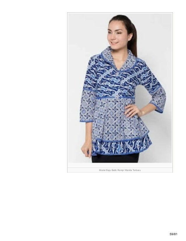 Model Baju Batik Rompi Terbaru Grosir Batik Solo Terkini