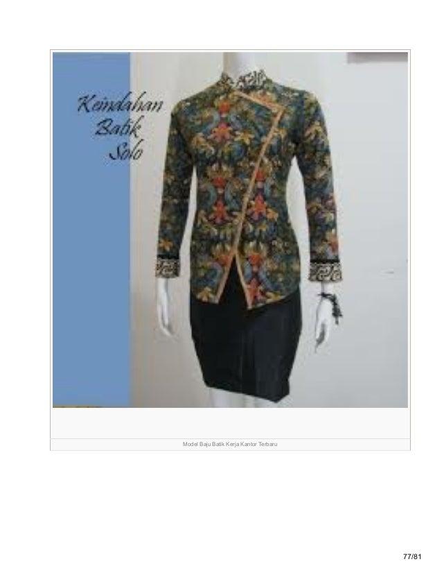 Grosirbatikterkini Blogspot Com 85 Model Baju Batik Wanita Terbaru 20