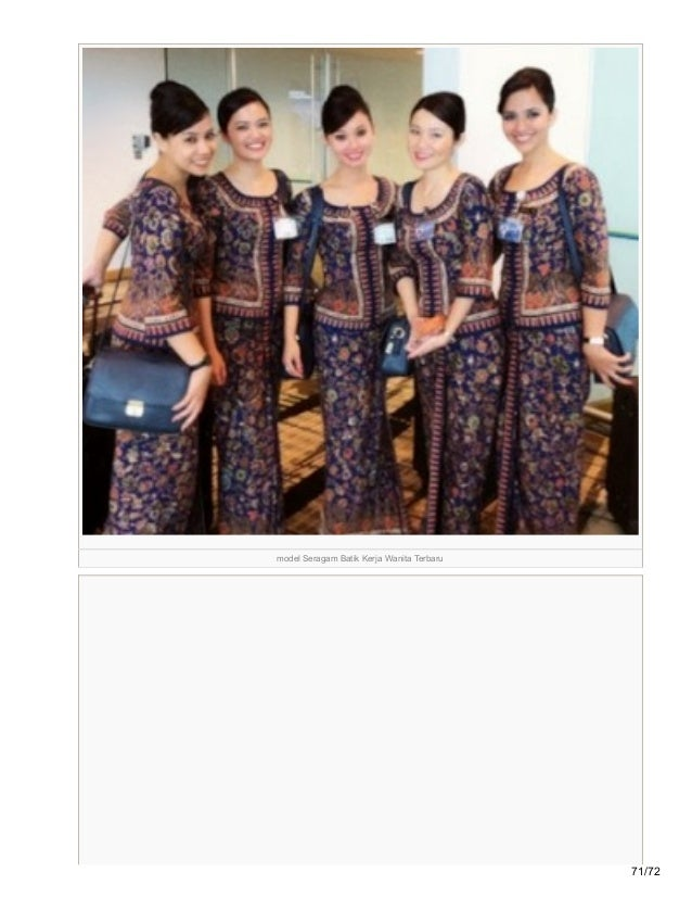 Grosirbatikterkini Blogspot Com 95 Model Baju Batik Kerja Terbaru 201