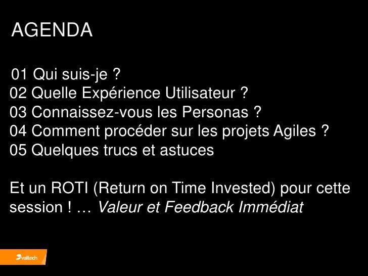 Grosjean  Agile france2010 Personas Agile UX Slide 2