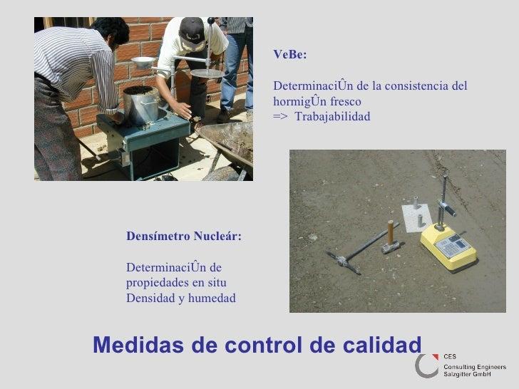 Medidas de control de calidad VeBe: Determinación de la consistencia del hormigón fresco  =>  Trabajabilidad Densímetro Nu...