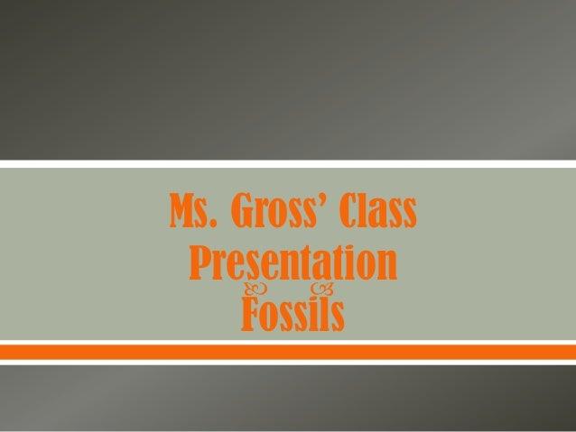 Ms. Gross' Class Presentation           Fossils
