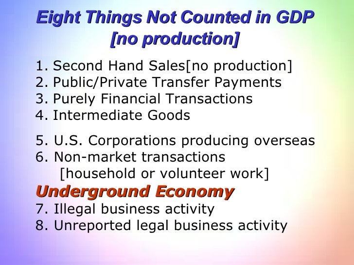 what is included in gdp