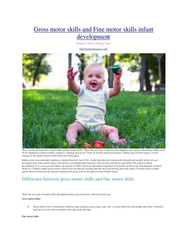Fine motor skills for infants for Gross motor skills for infants and toddlers