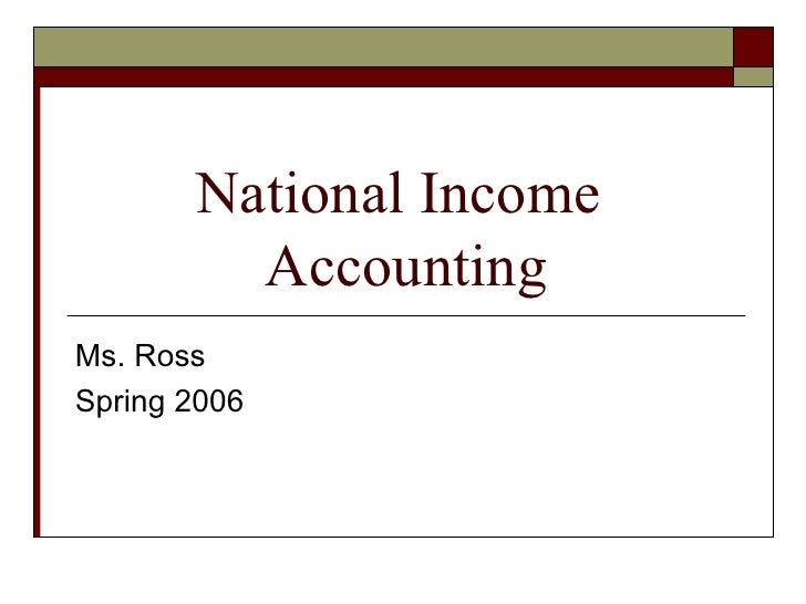 National Income  Accounting Ms. Ross Spring 2006