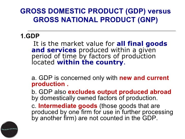 an introduction to the gross domestic product gdp Economics for dummies cheat sheet (uk edition) economists use gross domestic product (gdp) to keep track of how an economy is doing gdp measures the value of all final goods and services produced in an economy in a given period of time.