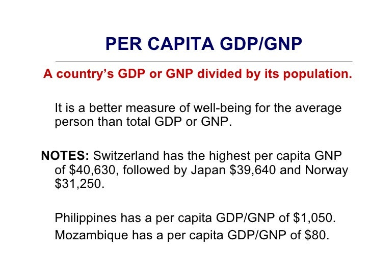 how to calculate percentage change in real gdp per capita