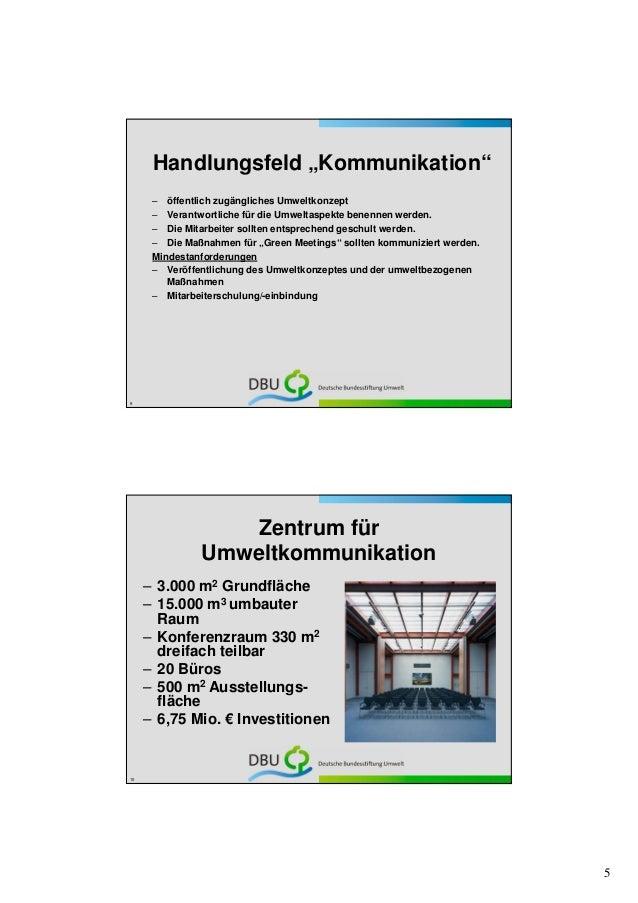 """Handlungsfeld """"Kommunikation""""      – öffentlich zugängliches Umweltkonzept      – Verantwortliche für die Umweltaspekte be..."""