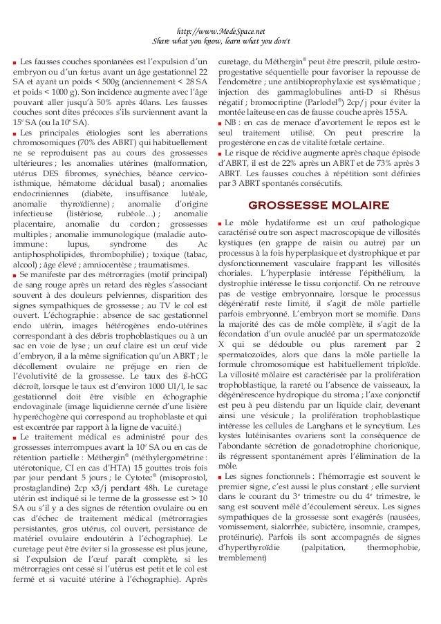 Grossesse pathologiques - Grossesse apres fausse couche precoce ...