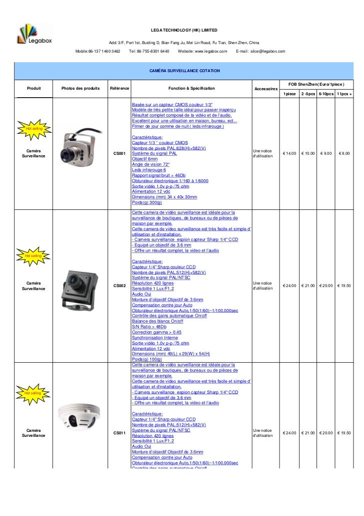 LEGA TECHNOLOGY (HK) LIMITED                                       Add: 3/F, Port 1st, Buiding D, Bian Fang Ju, Mei Lin Ro...