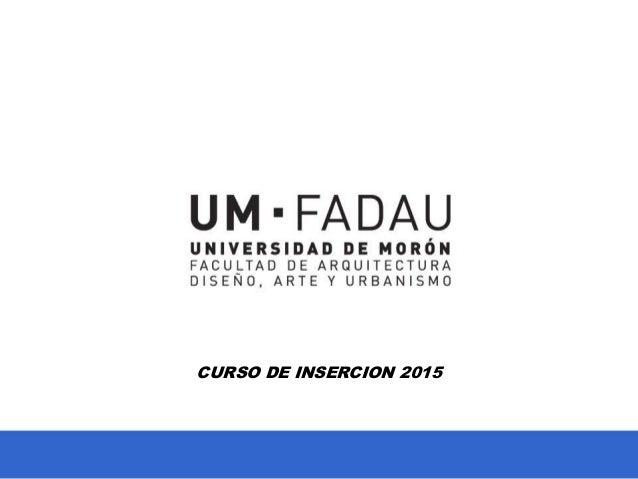 CURSO DE INSERCION 2015