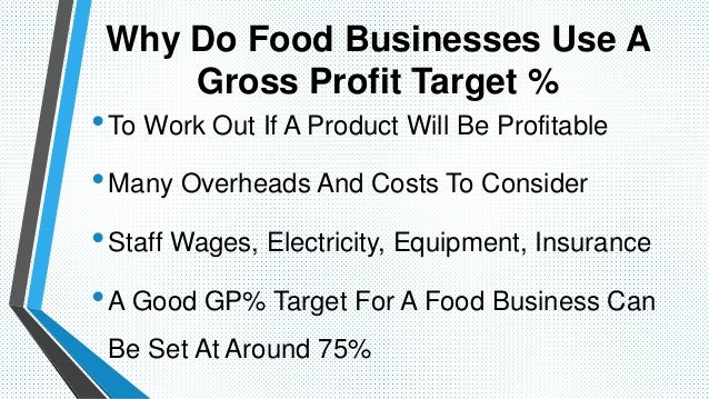 how to work out percentage profit margin