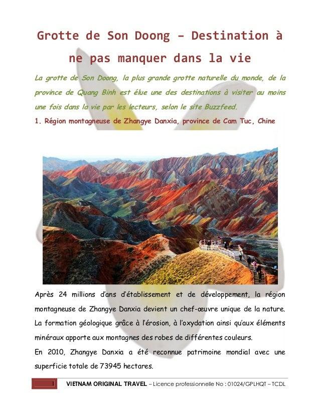 Grotte de Son Doong – Destination à ne pas manquer dans la vie La grotte de Son Doong, la plus grande grotte naturelle du ...