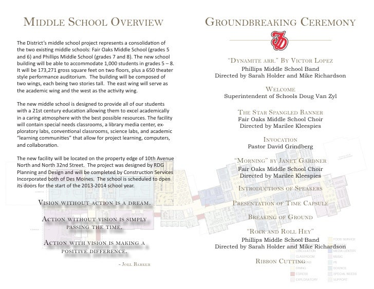 Publications - Groundbreaking Ceremony Program