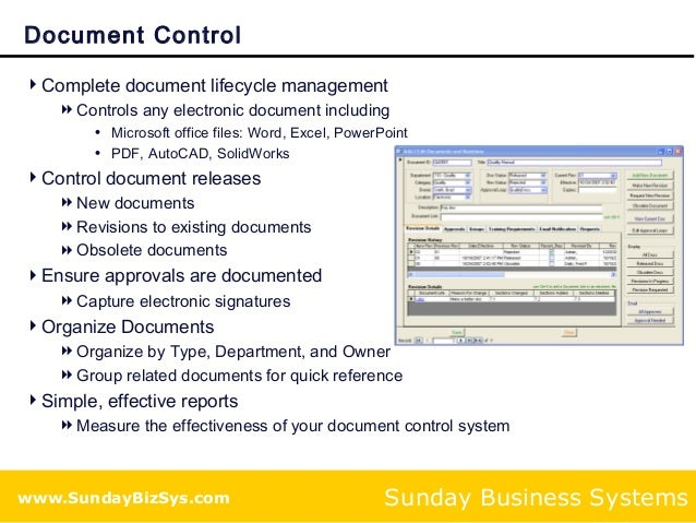 training and document control solution for iso 9001 compliance With document control training online