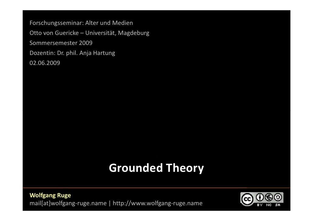Forschungsseminar: Alter und Medien Otto von Guericke – Universität, Magdeburg Sommersemester 2009 Dozentin: Dr. phil. Anj...