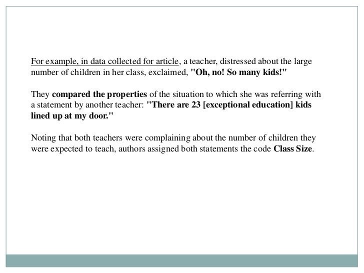 For example, in data collected for article, a teacher, distressed about the largenumber of children in her class, exclaime...