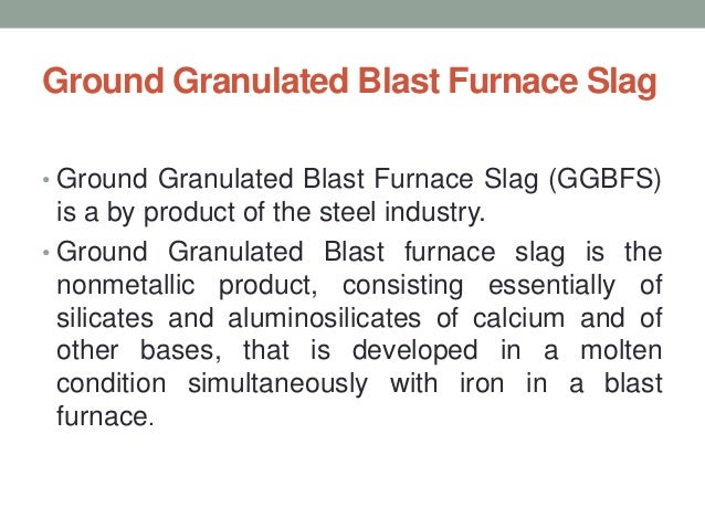Ground Granulated Blast Furnace Slag Production Schematic : Ground granulated blast furnace slag