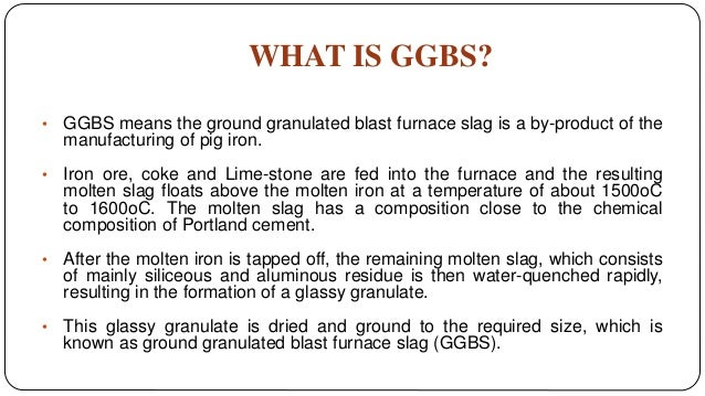 Ground Granulated Blast Furnace Slag Ggbs