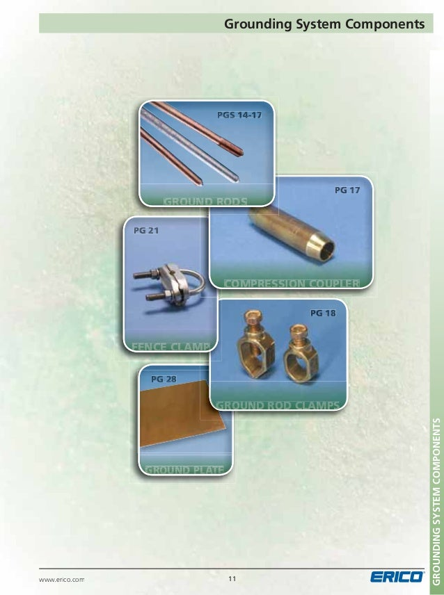 Grounding System Components  PGS 4-17 PG 14-1 PGS 14-17 1  GROUND RODS  P PG 17  PG PG 21  COMPRESSION COUPLER COMPRESSION...