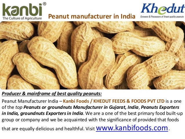 Peanut manufacturer in India Producer & mainframe of best quality peanuts: Peanut Manufacturer India – Kanbi Foods / KHEDU...
