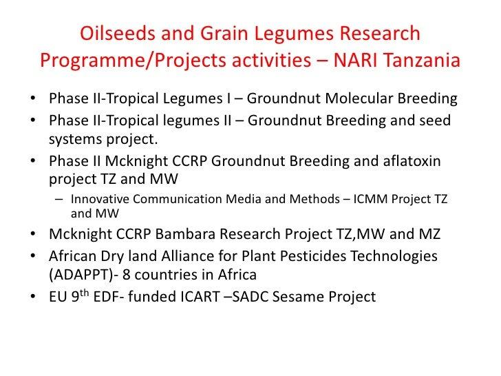 TLI 2012: Groundnut breeding - Tanzania Slide 3