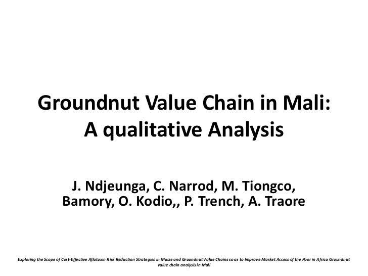 Groundnut Value Chain in Mali:              A qualitative Analysis                        J. Ndjeunga, C. Narrod, M. Tiong...