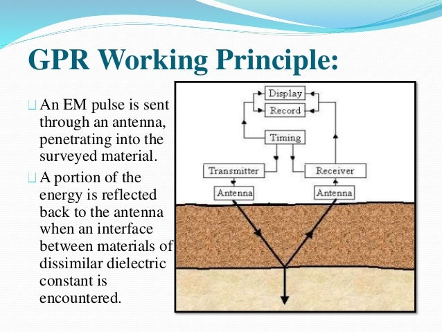 How much cement can gpr penetrate
