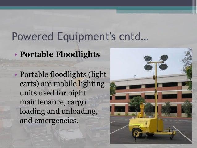 Ground support equipments
