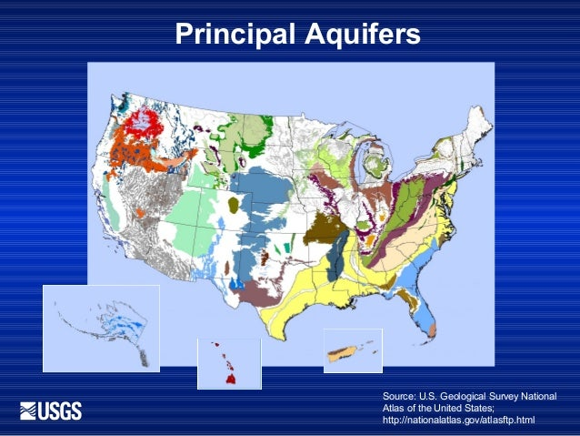 Groundwater Resources Program Dennehy - Map of aquifers in us