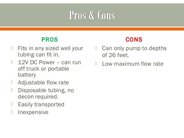 pros and cons of groundwater